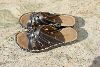 Natural Soul by Naturalizer Strap Slide Sandals Wedge Woman Sz 5M