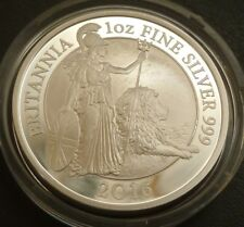 2016 United Kingdom Fine Silver Proof Britannia £2 Britannia & Lion Boxed