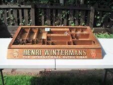 More details for vintage henri  wintermans  cigar  counter display  case  hinged glass lid