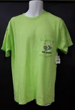 Reel Legends Size Large Lime Green T Shirt Fish Chest Pocket Short Sleeve