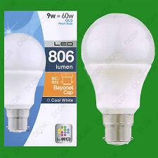 12 x 9w LED Blanco Frío Bajo Consumo Perla GLS Globo bombilla BC B22 Lámpara