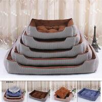 Cozy Soft Pet Cat Dog Basket Bed Washable Fleece Warm Puppy Kennel Cushion Cave