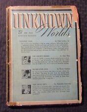 1943 April UNKNOWN WORLDS Pulp Fiction Magazine GD- 1.8 Fritz Leiber Jr