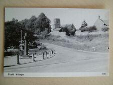 B&W Postcard - CROFT VILLAGE. Unused. Standard size.