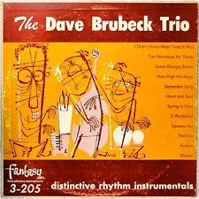 Dave Brubeck Trio Distinctive Rhythm Instruments LP Vinyl DG Jazz Piano Combo