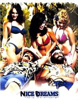 Cheech Marin & Tommy Chong Nice Dreams Authentic Signed 8x10 Photo BAS #F09189