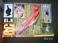 RC Pilot n°19 Plan encarté F14 & F22 Speed Flyers / Tiny Lama Spacewalker 2