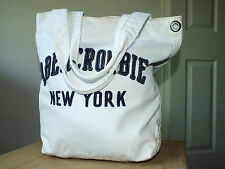 Abercrombie & Fitch white handbag/ tote