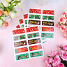 60pcs Merry Christmas Santa Claus Seal Sticker party baking package paper tagHC