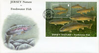 Jersey 2010 FDC Nature Freshwater Fish Brown Trout 1v M/S Cover Fishes Stamps