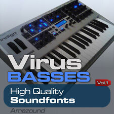 ACCESS VIRUS BASSES SOUNDFONT LIBRARY 305 SF2 FILES 2464 SAMPLES PC MAC LOGIC FL