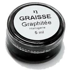 Graisse graphitée pour horloge pendule 5 ml  graphite grease for clock 5ml