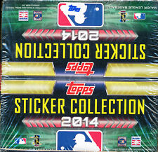 2014 TOPPS STICKER COLLECTION BASEBALL BOX 50 PACKS / 8 STICKERS PER PACK