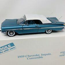 Danbury Mint Diecast 1959 Chevrolet Impala Convertible w/Box & Title 1:24
