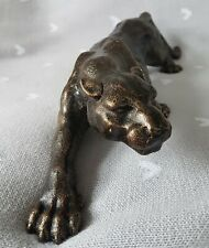 Leopard Cast Iron Figurine