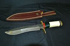 "12"" Overall Blade Bone Handled Hunting Custom Knife"