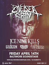 """CHELSEA GRIN """"THE SELF INFLICTED AMERICAN TOUR 2017"""" BALTIMORE CONCERT POSTER"""