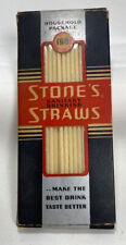 Vintage Stones Sanitary Drinking Straws Paper !))ct Box Household Kitchen Packag