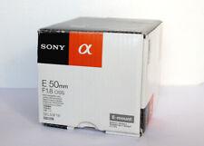 Obiettivo Sony E 50 mm 1.8 OSS E-mount Alpha solo scatolo  only box SEL50F18