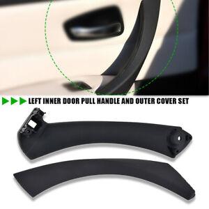 Left Inner Door Panel Handle Pull Cover Trim+Bracket For BMW E90 3 Series Sedan