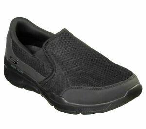 Mens Skechers Memory Foam Casual Slip On Shoes Trainers Size UK 7 41 Black