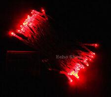 Décorations lumineuses de Noël rouge sans marque pour la maison