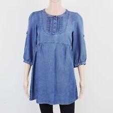 H&M Womens Size 8 Denim Blue Lightweight Short Dress