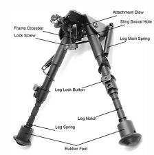 """Tms Tactical Bipod w/ Picatinny Sling Adapter 6""""-9"""""""