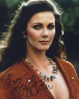 LYNDA CARTER SIGNED AUTOGRAPHED WONDERWOMAN COLOR PHOTO WOW!! TO STEVE!