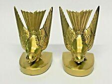 Art Deco Style Brass Swallowtail Matching Bookends