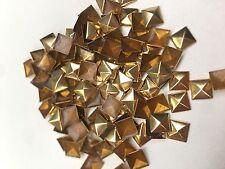 100 X 9mm oro Hotfix Pirámide Spike Espárragos, pegar, Hierro en
