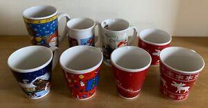 8 Weihnachtstassen Tassen Becher Kaffeetassen Weihnachtsbecher Glühweintassen
