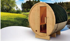 NEW 6' Foot Finland Pine Wood Barrel Wet Dry Sauna Spa Four 4 Person  6KW Heater