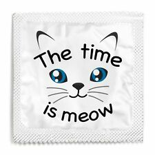 Funny Condom The Time Is Meow Condom Most Popular!! Brand New!! Unused!!