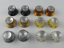 BELL REFLECTOR KNOBS Top Hat Mirror in 6 Colours for Gibson style guitars