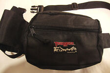Trail Maker Black Canvas Sports Hunting Hiking Fanny Waist Pack Bag Cup Holder