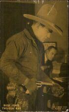 Cowboy Actor Buck Jones Two Gun Man Exhibit Arcade Card