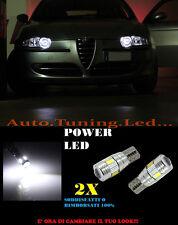 LUCI POSIZIONE ALFA ROMEO 147 CANBUS T10 BIANCO 6 LED W5W SUPER QUALITA