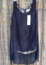 Autograph (18) Animal Print with Sheer Overlay SINGLET TUNIC TOP Ladies