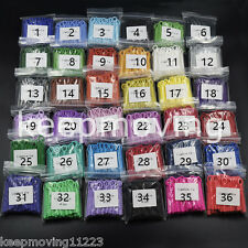 10 Packs Dental Orthodontic Ligature Ties 36 Colors Elastic Rubber Bands 1040Pcs