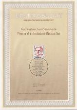 TIMBRE FDC ALLEMAGNE  BERLIN OBL ERSTTAGSBLATT ALICE SALOMON EDUCATRICE 1989