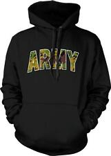 Army Camouflage Military Patriotic Americana Armed Forces USA Hoodie Pullover