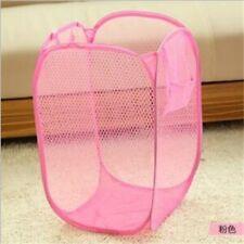 Wholesale PINK Foldable Pop Up Laundry Basket Hamper Washing Clothes Storage Bag