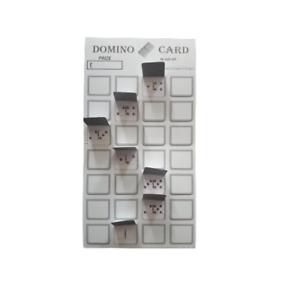 25 Domino Cards Single Sided Break Open Pop Open Windows High Quality Thick Card