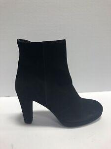 La Canadienne, Monacco Black Suede Ankle Booties, Womens Size 10M