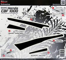 Repose-Pied U.Pédale 550005 3D Schutz-Pads 3D Noir Convient pour Honda CBF 1000