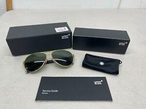 Mont Blanc MB 518S 30N Aviator Sunglasses - Gold Frame