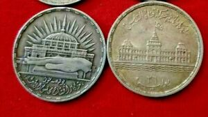 2 EGYPTIAN  silver coins  free SHIPPING from USA  ISSUED 1960 &  ISSUED 1956