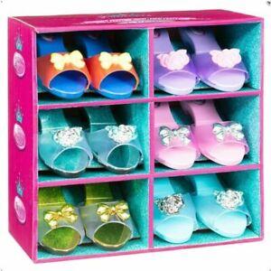 Princess Girls Set of 6 Pairs Slipper Play Shoes Fancy Dress Up Gift Set