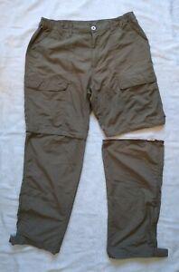 "White Sierra Mens Convertible Nylon Pants Large 32"" Inseam Med. Khaki Tan"